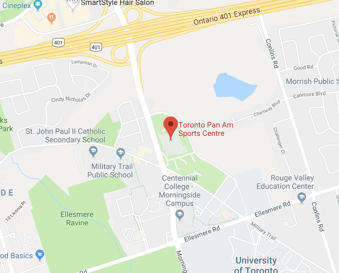 Image of map to Toronto Pan Am Sports Centre, Markham, Ontario